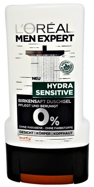 Loréal Men Expert Hydra Sensitive 3v1 sprchový gel 300 ml