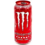 Monster Energy Ultra Red plech 0,5l - karton - balení 24ks