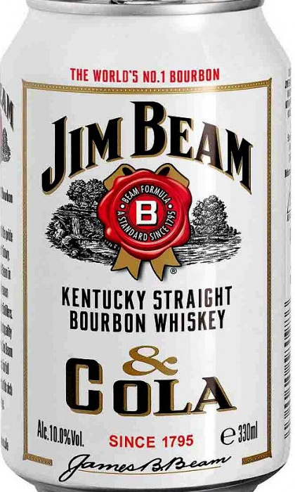 Jim Beam Bourbon whiskey & Cola 330ml