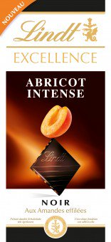 Lindt Excellence Apricot Intense 100g