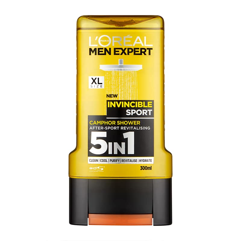 Loréal Men Expert Invincible Sport 5v1 sprchový gel 300 ml