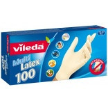 Vileda rukavice multi latex 100 ks S/M