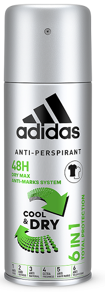 Adidas Cool&Dry 6v1 Total Protection anti-perspirant 150 ml