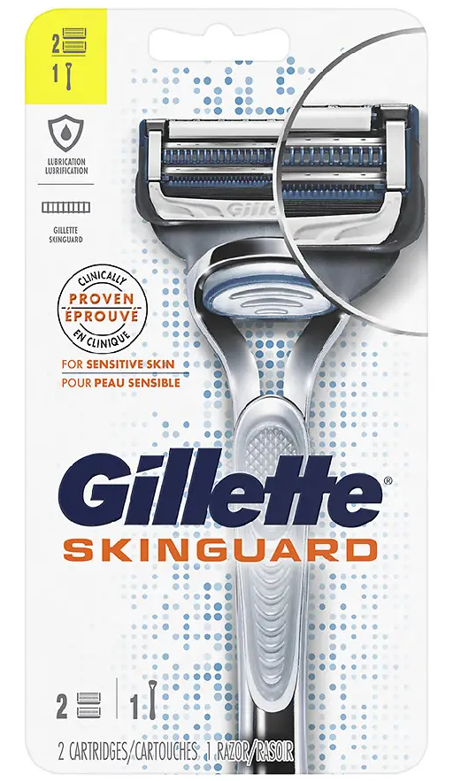 Gillette SkinGuard Sensitive strojek + 2 břity