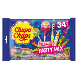 Chupa Chups Party Mix lízátka, tyčinky, bonbony 34ks 400g