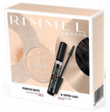 Rimmel London Extra Super Lash řasenka 11ml + Stay mate pudr 14g dárková sada