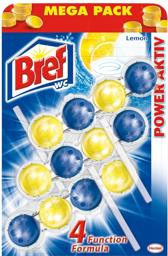Bref Power Activ WC blok Lemon 3x50 g