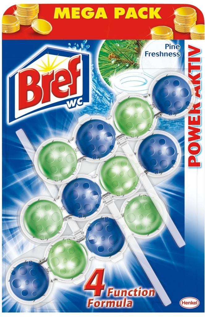 Bref Power Activ WC blok Pine 3x50 g