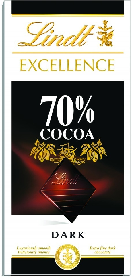 Lindt Excellence 70% kakaa 100g
