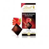 Lindt Excellence Strawberry Intense 100g exp 08/2019