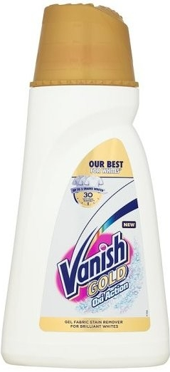 Vanish Gold Oxi Action Gel White gelový odstraňovač skvrn 940 ml