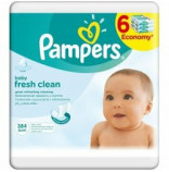 Pampers Ubrousky Baby Fresh 6x64 ks
