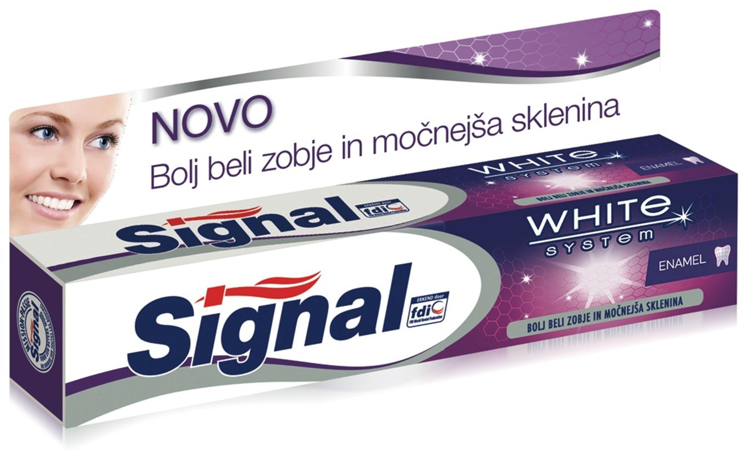 Signal White System Revitalise Zubní pasta 75 ml