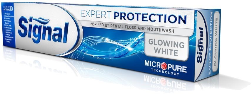 Signal Expert Protection Glowing White zubní pasta 75 ml