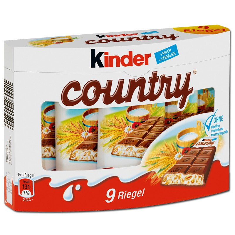 Kinder Country 9 tyčinek, 211g