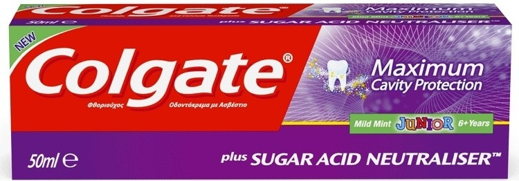 Colgate Maximum Cavity Protection Junior Mild Mint dětská zubní pasta 50 ml
