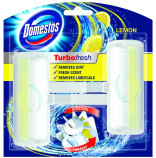 Domestos Turbo Fresh Lemon Fresh rotační tuhý WC blok 2x38 g DUOPACK