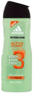 Adidas Active Start sprchový gel 3v1 400ml