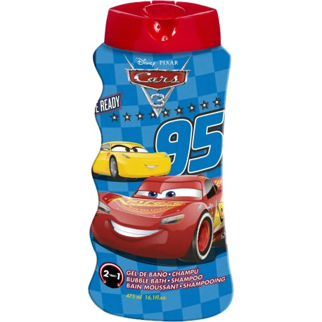 Disney Cars McQueen 2v1 šampon a pěna do koupele 475 ml