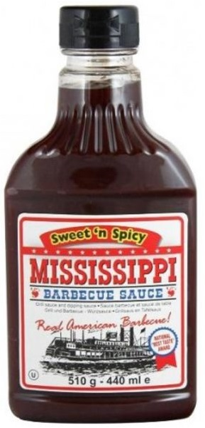 Mississippi Barbecue Sauce Sweet and Spicy 510g