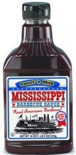 Mississippi Barbecue Sauce Sweet and Mild 510g